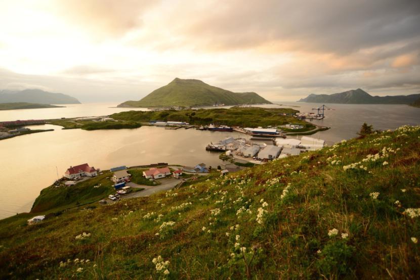 20 creuers cap a Unalaska, Aleutianes