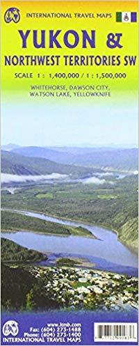 Mapa de carreteres del Yukon i Territoris del Nord-Oest