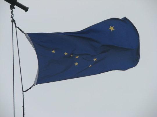 La curiosa bandera d'Alaska