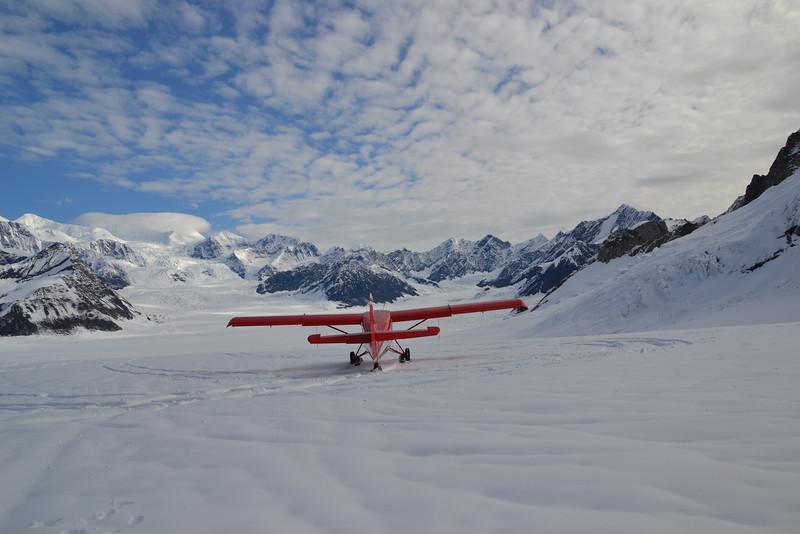 Sobrevol del Mt Denali i aterratge en glacera