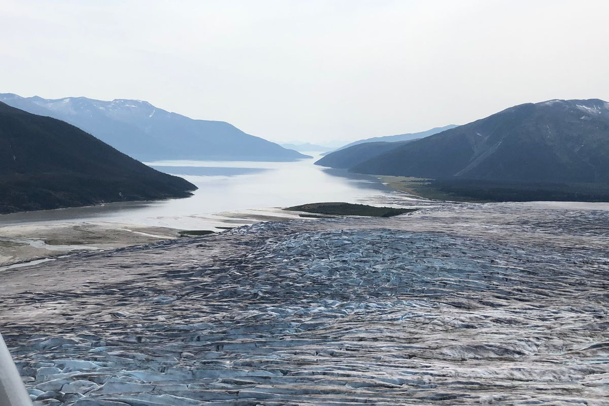 La glacera Taku també ha començat a retrocedir
